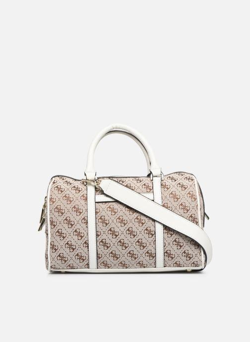 Handtaschen Guess GUESS VINTAGE BOX SATCHEL beige ansicht von vorne