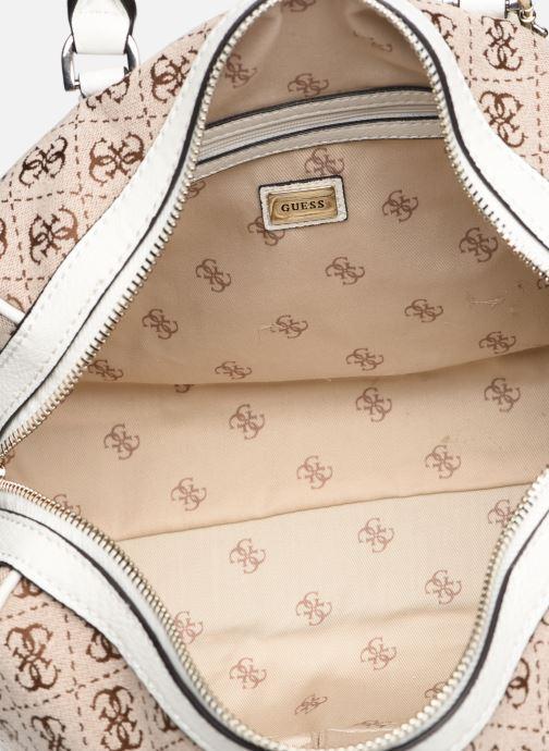Handtaschen Guess GUESS VINTAGE BOX SATCHEL beige ansicht von hinten