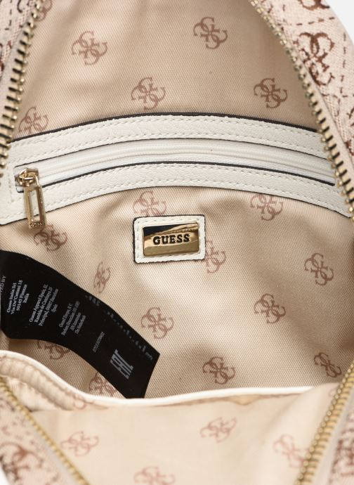 Mochilas Guess GUESS VINTAGE MINI BACKPACK Beige vistra trasera