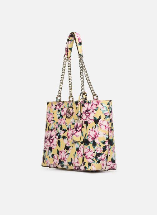 Handbags Guess LANDON TOTE ZIP Yellow model view