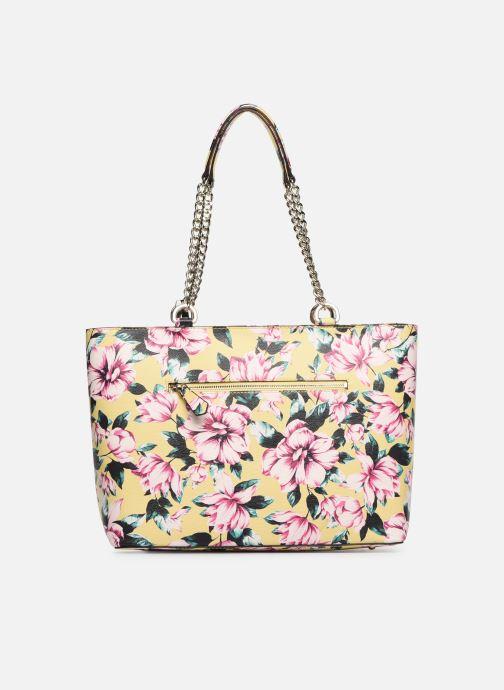 Handbags Guess LANDON TOTE ZIP Yellow front view