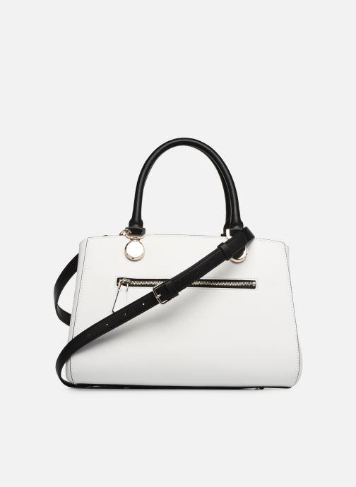 Handtaschen Guess LANDON DOME SATCHEL weiß ansicht von vorne