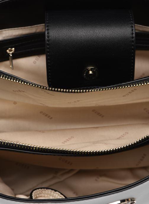 Handtaschen Guess LANDON DOME SATCHEL weiß ansicht von hinten
