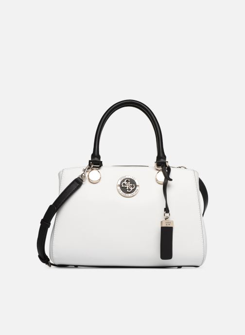 Handbags Guess LANDON DOME SATCHEL White detailed view/ Pair view