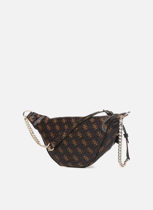 Portemonnaies & Clutches Guess LEEZA LARGE BELT BAG braun ansicht von rechts