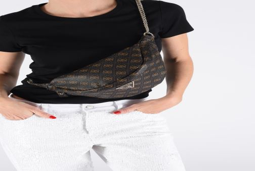Wallets & cases Guess LEEZA LARGE BELT BAG Brown view from above