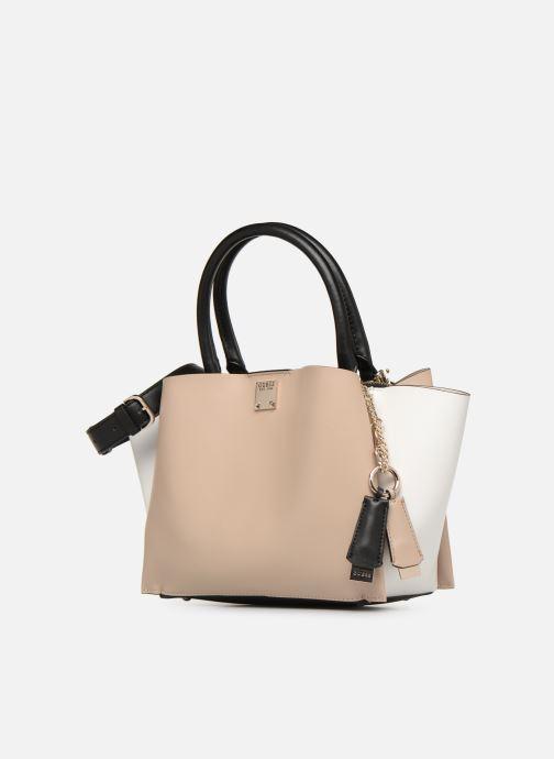 Handtaschen Guess LENIA GIRLFIEND SATCHEL rosa schuhe getragen