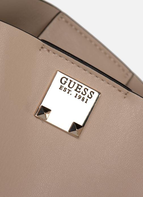 Handtaschen Guess LENIA GIRLFIEND SATCHEL rosa ansicht von links