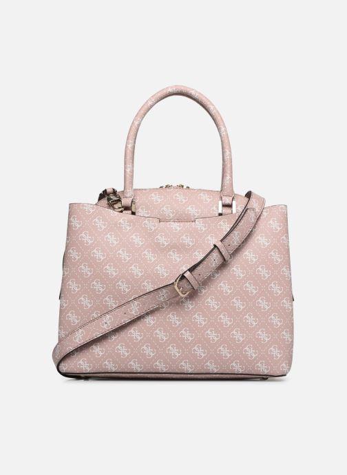 Handtaschen Guess MACI LARGE GIRLFRIEND SATCHEL rosa ansicht von vorne
