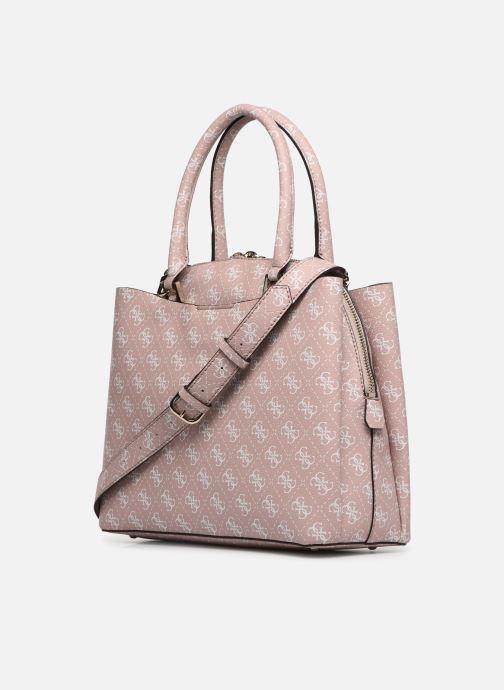 Handtaschen Guess MACI LARGE GIRLFRIEND SATCHEL rosa ansicht von rechts