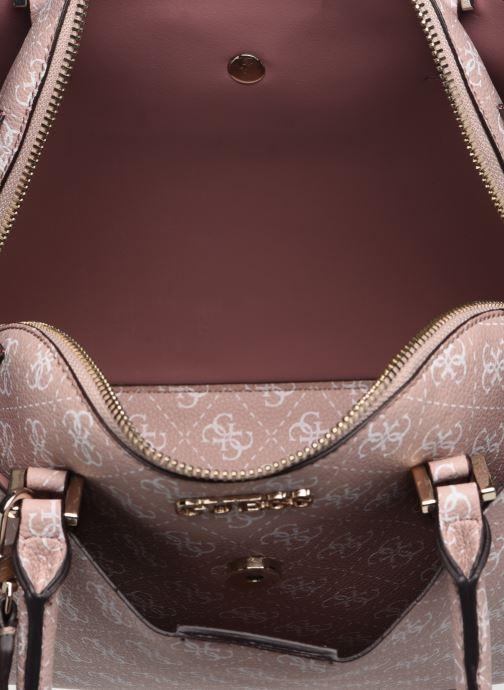 Handtaschen Guess MACI LARGE GIRLFRIEND SATCHEL rosa ansicht von hinten