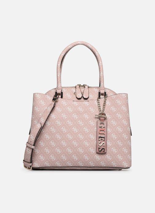 Handväskor Guess MACI LARGE GIRLFRIEND SATCHEL Rosa detaljerad bild på paret