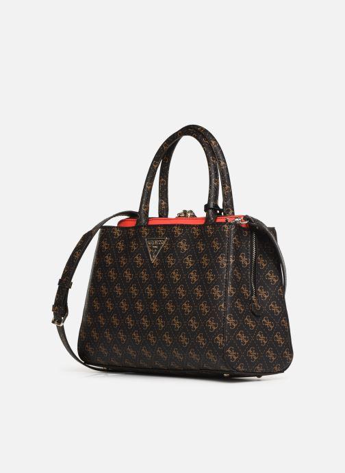 Handtaschen Guess MADDY GIRLFRIEND SATCHEL braun schuhe getragen