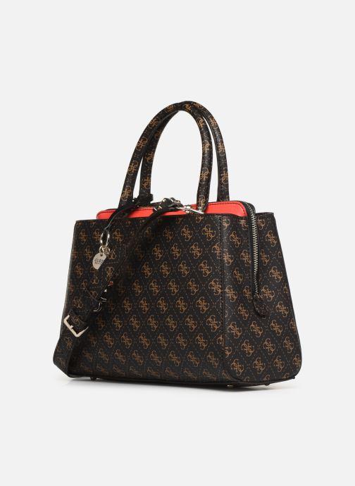 Handtaschen Guess MADDY GIRLFRIEND SATCHEL braun ansicht von rechts