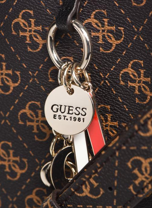Handtaschen Guess MADDY GIRLFRIEND SATCHEL braun ansicht von links