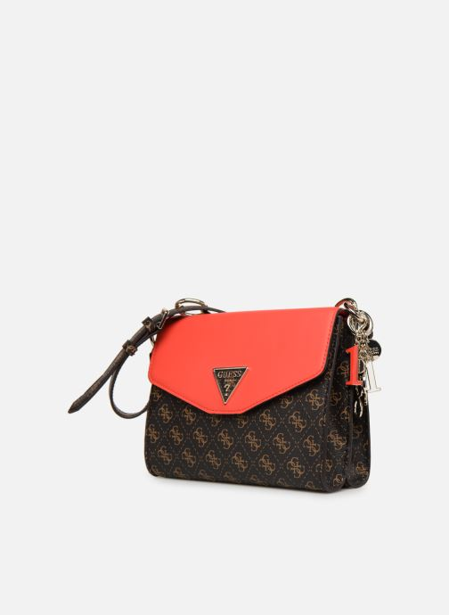 Guess MADDY CROSSBODY FLAP (Marrone) Borse chez Sarenza