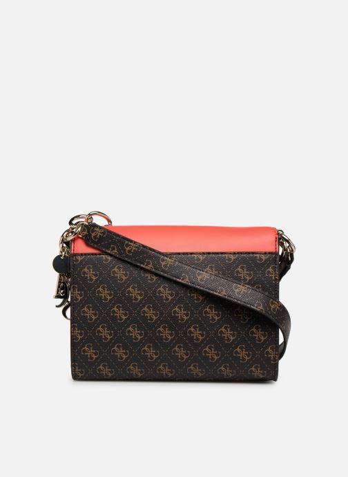 Handbags Guess MADDY CROSSBODY FLAP Brown front view