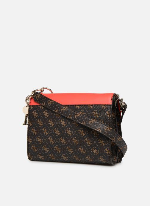 Handtaschen Guess MADDY CROSSBODY FLAP braun ansicht von rechts