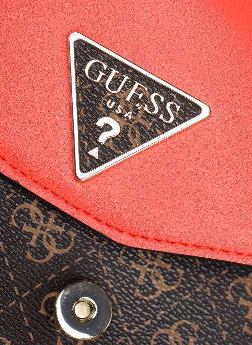 Handtaschen Guess MADDY CROSSBODY FLAP braun ansicht von links