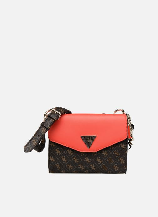 Handtaschen Guess MADDY CROSSBODY FLAP braun detaillierte ansicht/modell