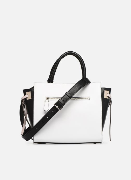 Sacs à main Guess OPEN ROAD SOCIETY SATCHEL Blanc vue face