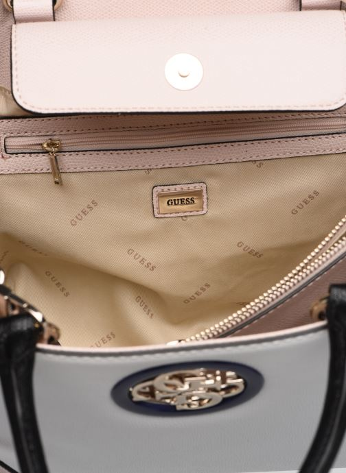 Sacs à main Guess OPEN ROAD SOCIETY SATCHEL Blanc vue derrière
