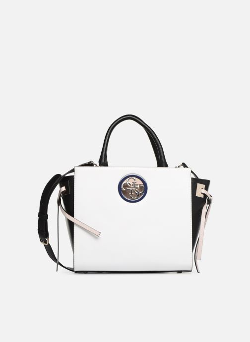Handtassen Guess OPEN ROAD SOCIETY SATCHEL Wit detail