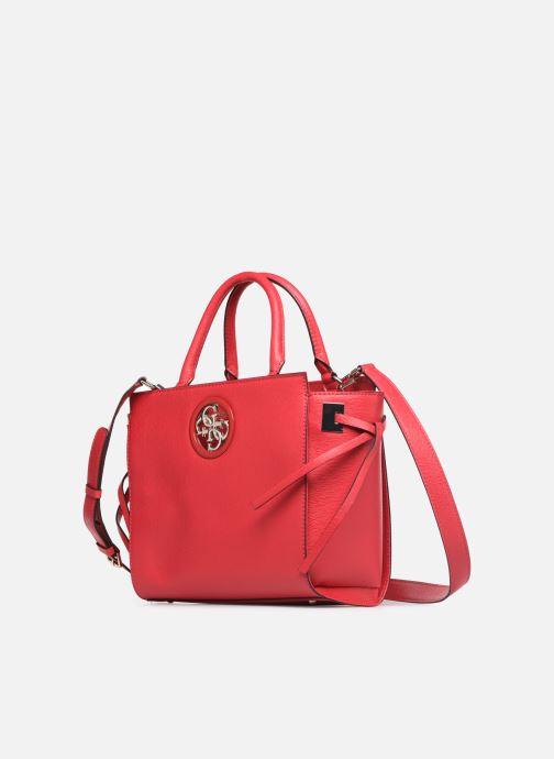 Handtaschen Guess OPEN ROAD SOCIETY SATCHEL rot schuhe getragen