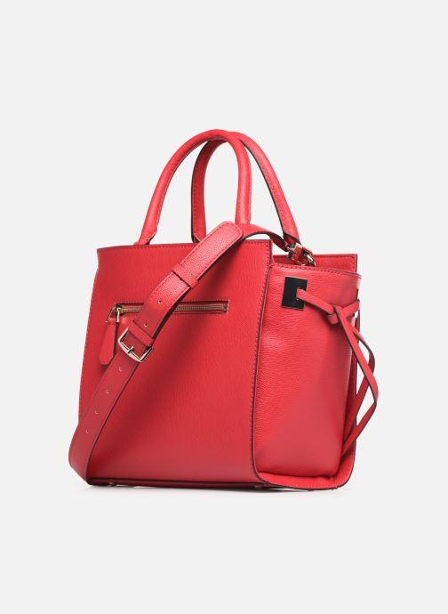 Handtaschen Guess OPEN ROAD SOCIETY SATCHEL rot ansicht von rechts