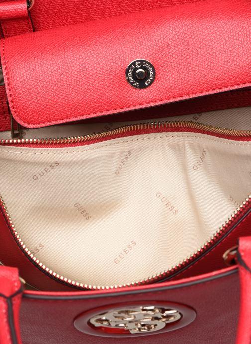 Handtaschen Guess OPEN ROAD SOCIETY SATCHEL rot ansicht von hinten