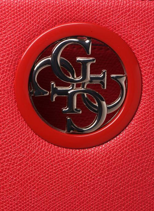 Handtaschen Guess OPEN ROAD SOCIETY SATCHEL rot ansicht von links