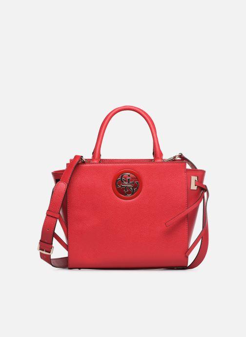 Handtaschen Guess OPEN ROAD SOCIETY SATCHEL rot detaillierte ansicht/modell