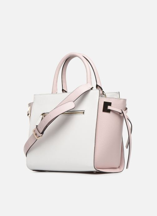 Sacs à main Guess OPEN ROAD SOCIETY SATCHEL Blanc vue droite
