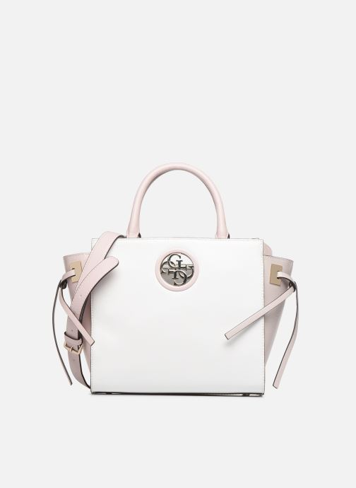 Handbags Guess OPEN ROAD SOCIETY SATCHEL White detailed view/ Pair view