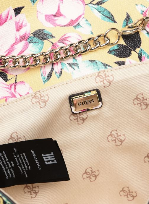 Handtassen Guess PRISMA CLUTCH Geel achterkant
