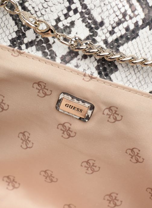 Handtassen Guess PRISMA CLUTCH Wit achterkant