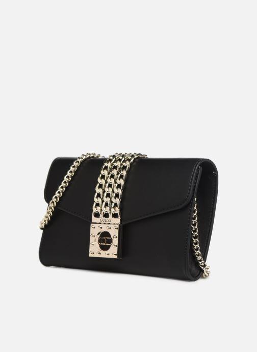 Handtaschen Guess PRISMA CLUTCH schwarz schuhe getragen