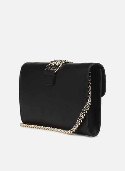 Handtaschen Guess PRISMA CLUTCH schwarz ansicht von rechts
