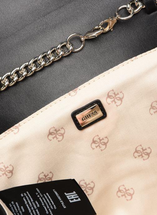 Handtaschen Guess PRISMA CLUTCH schwarz ansicht von hinten