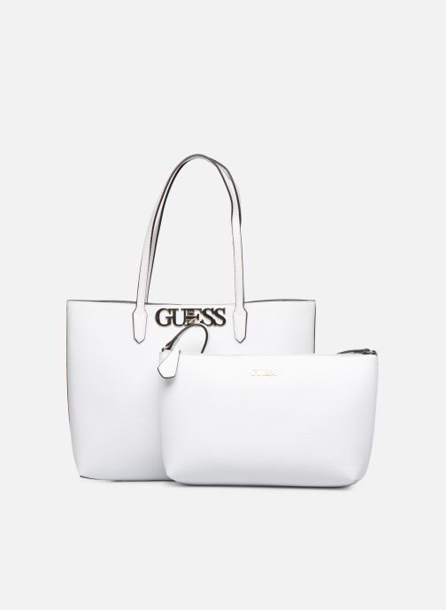 Handbags Guess UPTOWN CHIC BARACELON TOTE White view from the left