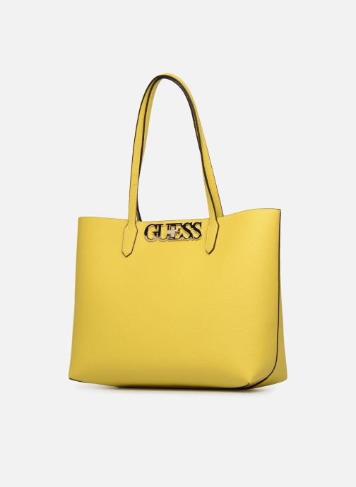 Handbags Guess UPTOWN CHIC BARACELON TOTE Yellow model view