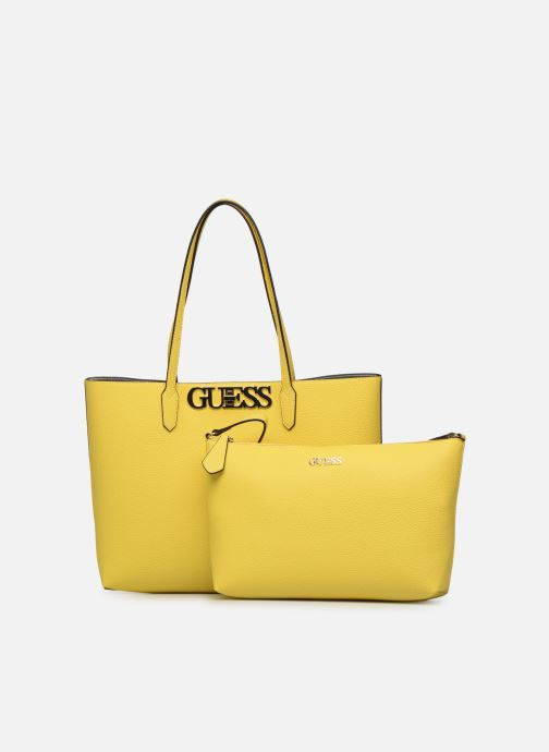 Handbags Guess UPTOWN CHIC BARACELON TOTE Yellow view from the left