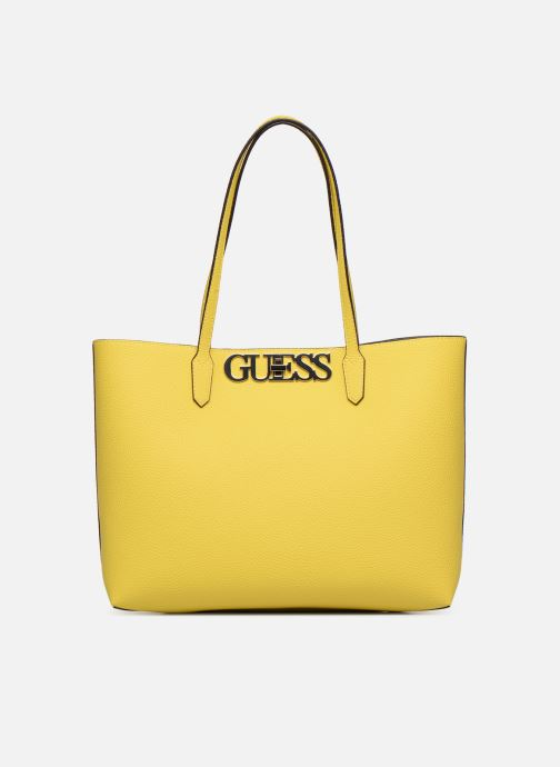 Handbags Guess UPTOWN CHIC BARACELON TOTE Yellow detailed view/ Pair view