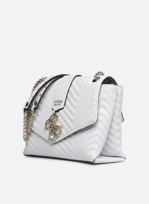 Handbags Guess VIOLET SHOUDLER BAG White model view