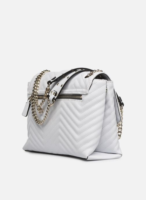 Handbags Guess VIOLET SHOUDLER BAG White view from the right