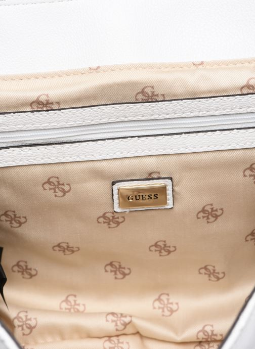 Handbags Guess VIOLET SHOUDLER BAG White back view