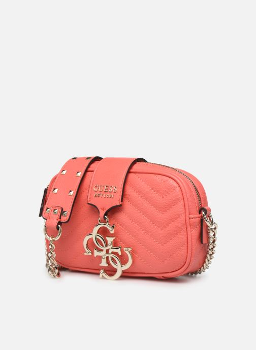 Sacs à main Guess VIOLET MINI CROSSBODY CAMERA Orange vue portées chaussures