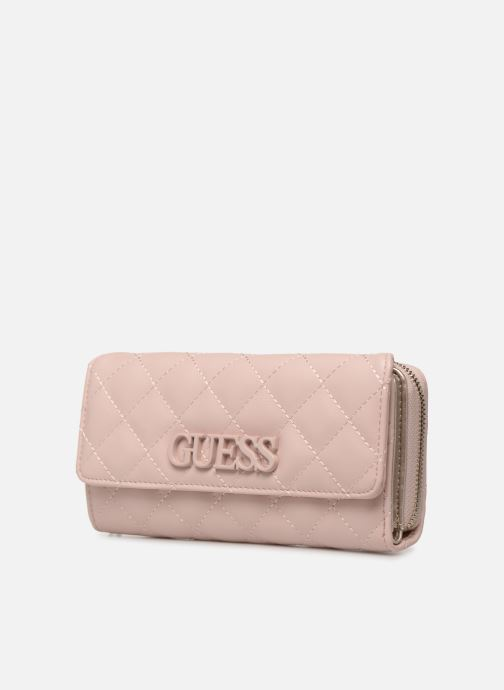 Petite Maroquinerie Guess ELLIANA LARGE CLUTH ORGANIZER Rose vue portées chaussures