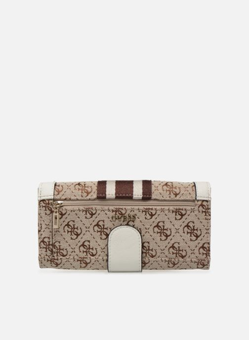 Petite Maroquinerie Guess GUESS VINTAGE FILE CLUTCH Beige vue face