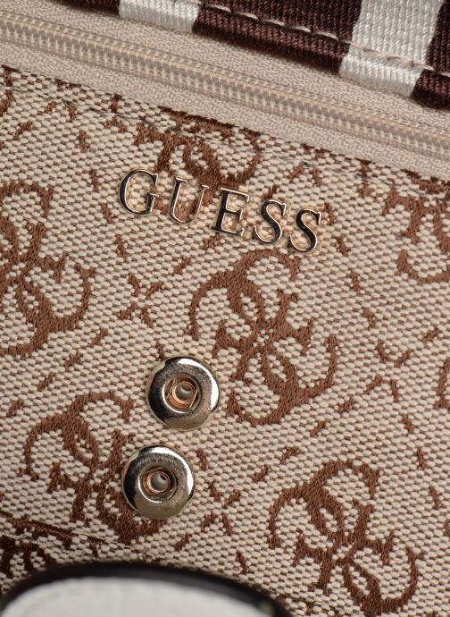 Wallets & cases Guess GUESS VINTAGE FILE CLUTCH Beige view from the left